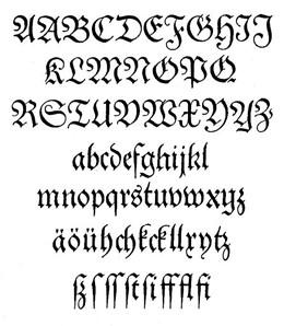calligraphie occidentale